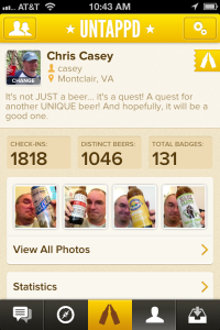 Chris on Untappd