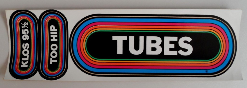 '80s era KLOS promotion sticker for The Tubes