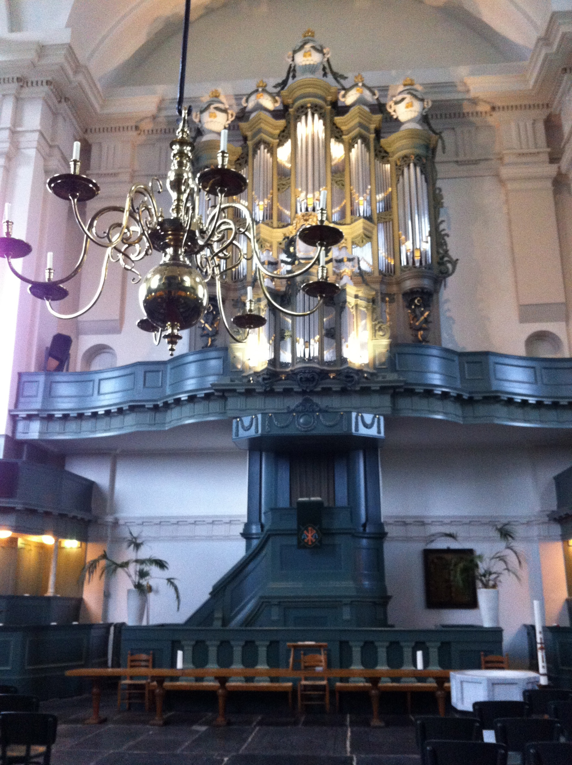 18th century pipe organ.