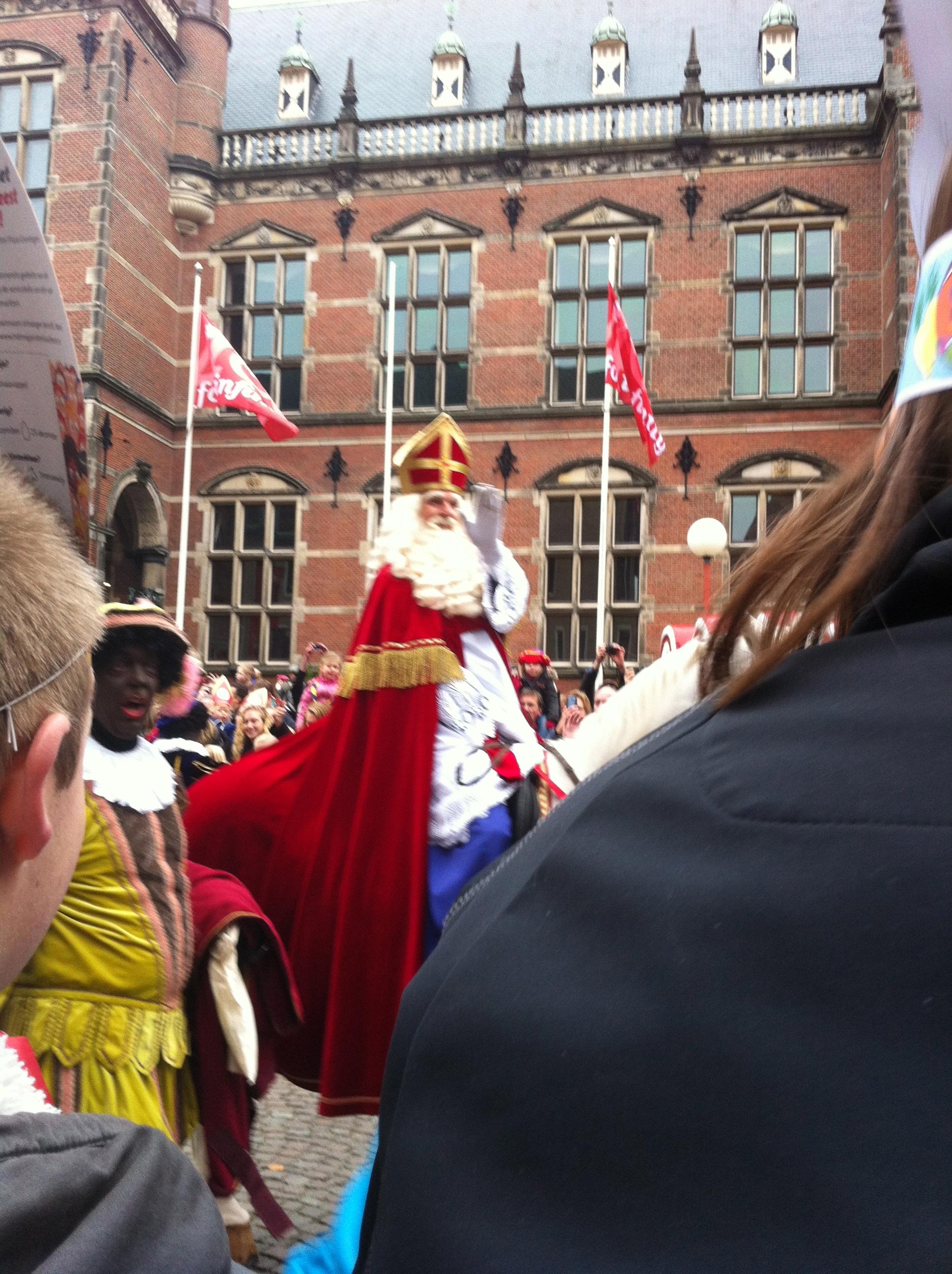 Sinterklaas arrives in Groningen.