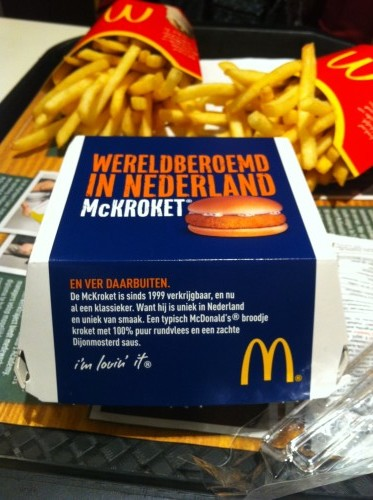 "The box says ""World Famous in the Netherlands"""