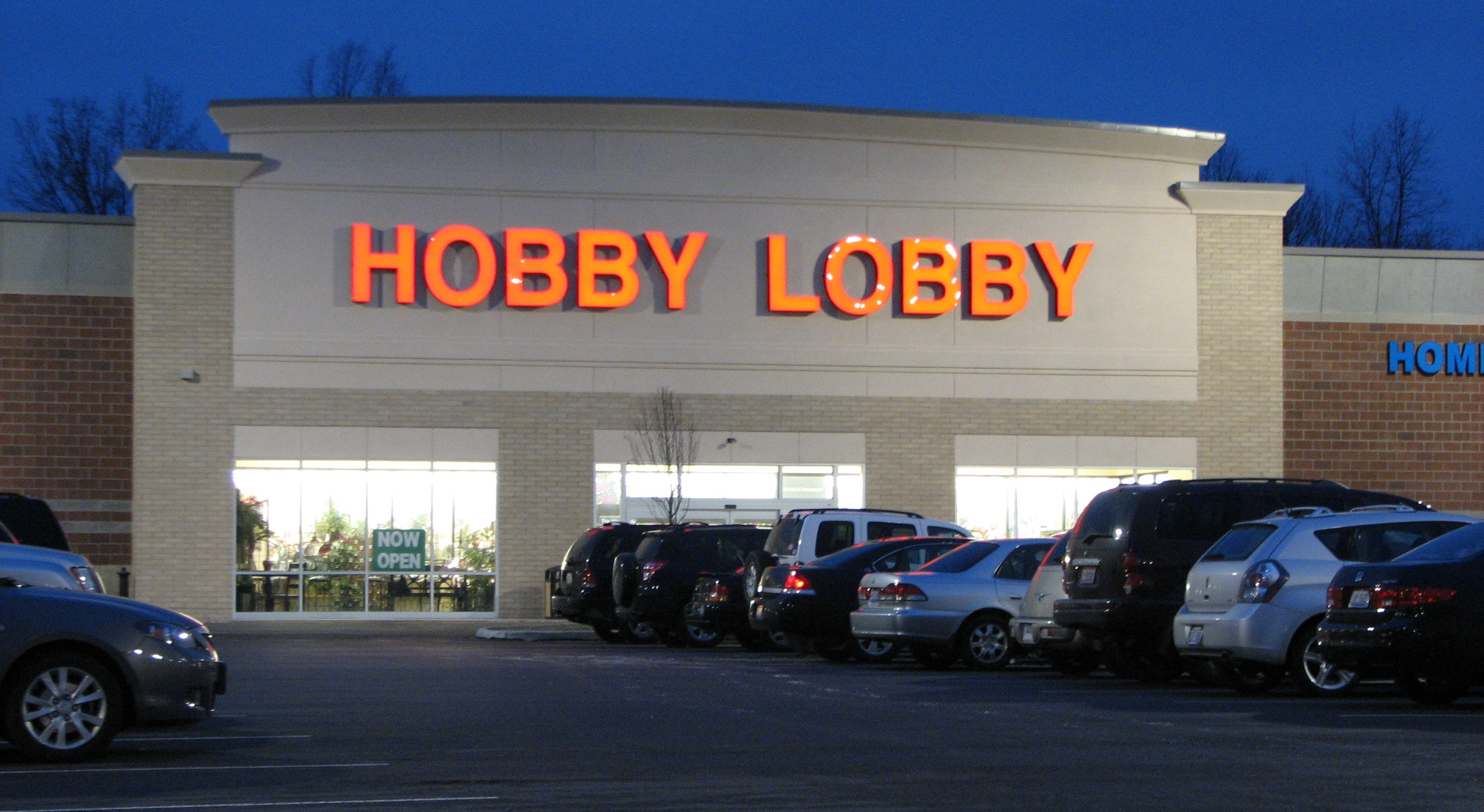 Image of a Hobby Lobby store.